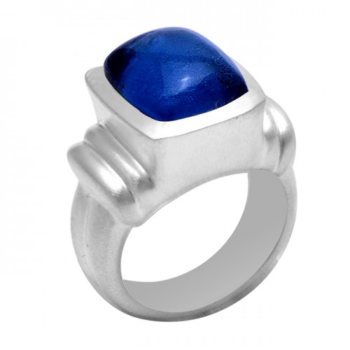 925 Sterling Silver Tanzanite Quartz Gemstone Designer Ring Jewelry