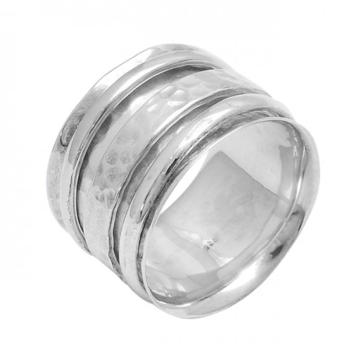 Handcrafted Plain Designer 925 Sterling Silver Unique Spinner Ring Jewelry