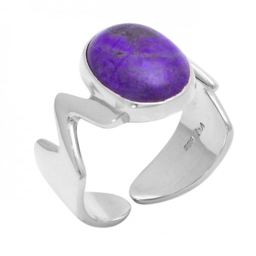 Oval Shape Amethyst Gemstone 925 Sterling Silver Band Designer Ring