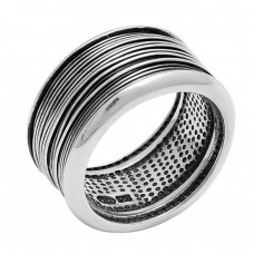 925 Sterling Solid Silver Plain Designer Stylish Ring Jewelry