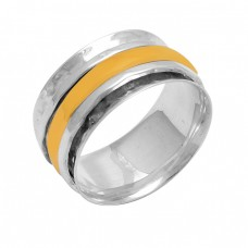 Handcrafted Plain Designer 925 Sterling Solid Silver Spinner Ring Jewelry
