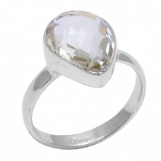 Pear Shape Citrine Gemstone 925 Sterling Silver Handmade Designer Ring Jewelry