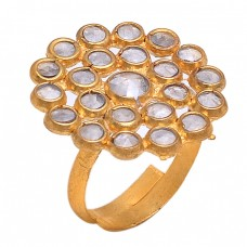 925 Sterling Silver Crystal Quartz Gemstone Handmade Designer Ring Jewelry