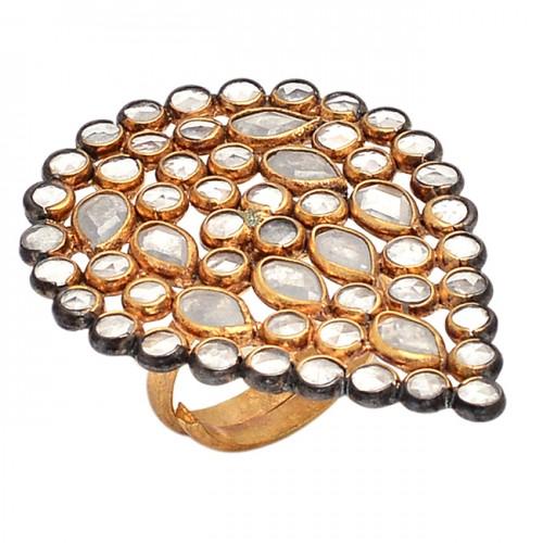 925 Sterling Silver Jewelry Crystal Quartz Gemstone Handmade Jewelry Ring