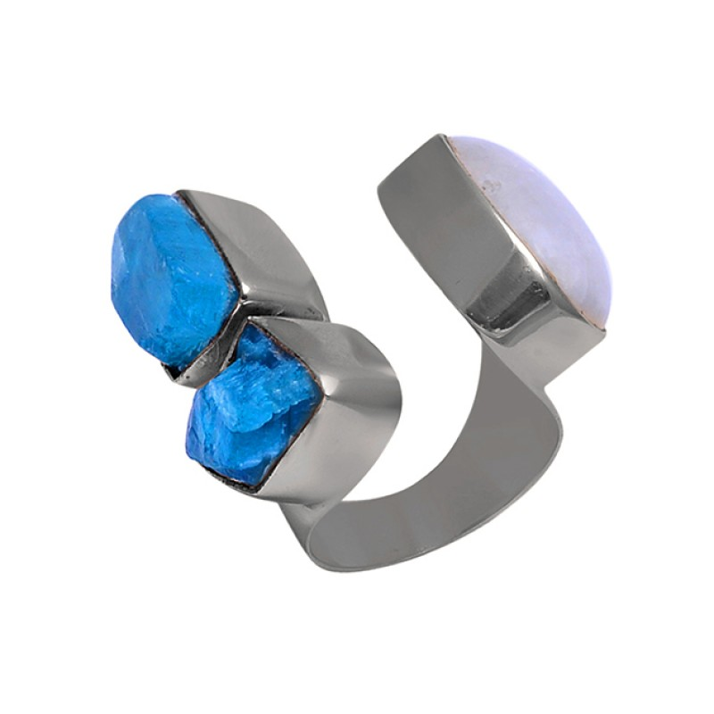 Apatite Moonstone 925 Sterling Silver Jewelry Gold Plated Wholesale Ring