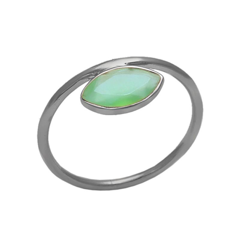 Peridot Marquise Shape Gemstone 925 Sterling Silver Jewelry Bezel Set Ring
