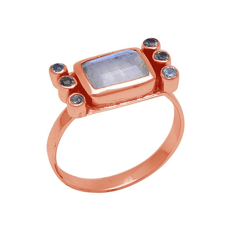 925 Sterling Silver Jewelry Gemstone Gold Plated Handmade Designer Ring