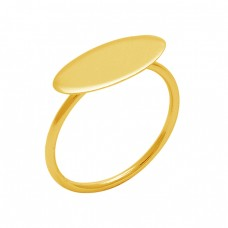 925 Sterling Silver Jewelry Plain Handmade Designer Gold Plated Wholesale Ring