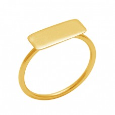 Handmade Designer Plain 925 Sterling Silver Jewelry Gold Plated Wholesale Ring