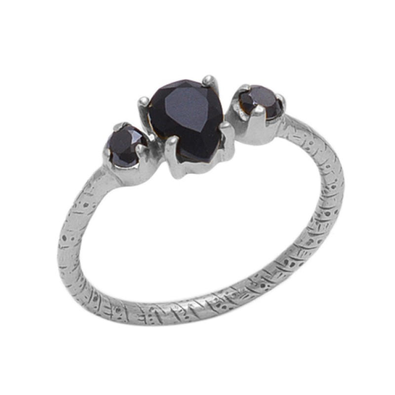 Pear Round Shape Black Onyx   Gemstone 925 Sterling Silver Jewelry Gold Plated Ring