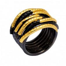 Stylish Handmade Designer Plain 925 Sterling Silver Black Rhodium Ring Jewelry