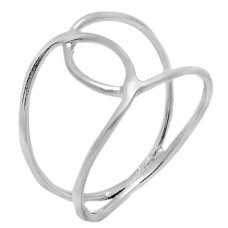 Handcrafted Plain Designer 925 Sterling Silver Light Weight Ring Jewelry