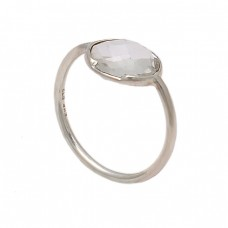 Oval Shape Rainbow Moonstone 925 Sterling Silver Handmade Designer Ring