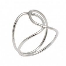New Stylish Plain Handmade Designer 925 Sterling Silver Band Ring Jewelry