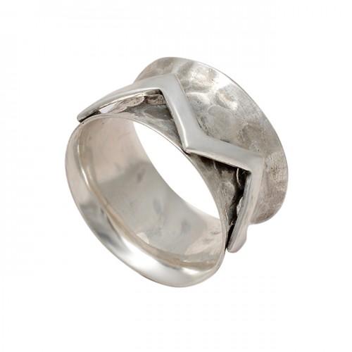 Handmade Plain Designer 925 Sterling Silver Hammered Spinner Rings Jewelry