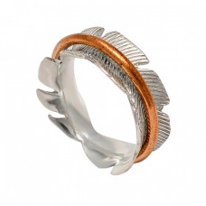 Attractive Designer Plain 925 Sterling Silver Rose Gold Plated Spinner Rings Jewelry