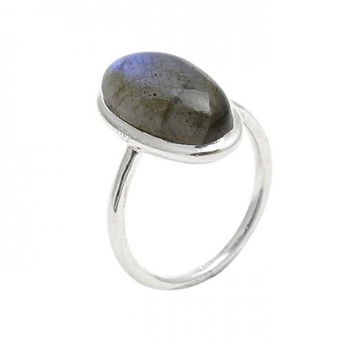 Oval Shape Labradorite Gemstone 925 Sterling Silver Handmade Designer Ring