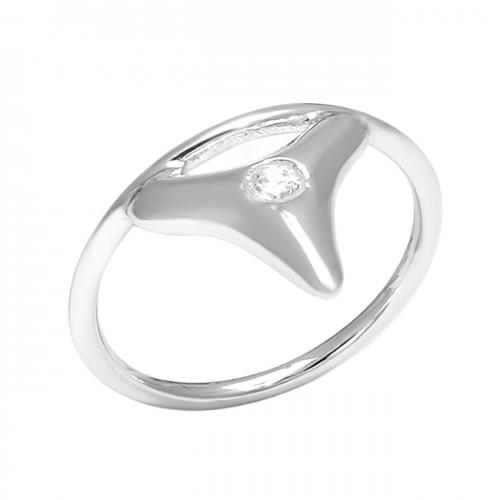 Round Shape Cubic Zirocnia Gemstone 925 Sterling Silver Handmade Designer Ring