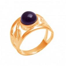925 Sterling Silver Round Cabochon Amethyst Handmade Designer Ring
