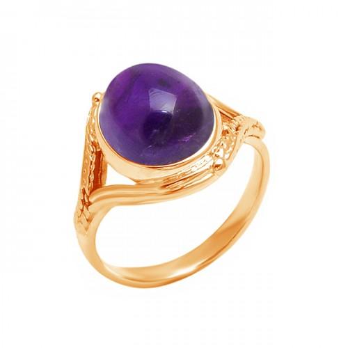 925 Sterling Silver Amethyst Oval Shape Gemstone Designer Ring Jewelry