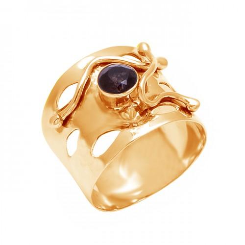 925 Sterling Silver Round Shape Smoky Quartz Gemstone Attractive Designer Ring