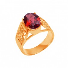 925 Sterling Silver Oval Shape Garnet Gemstone Filigree Style Designer Ring