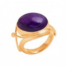 925 Sterling Silver Cabochon Oval Shape Amethyst Gemstone Handmade Designer Ring