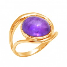 Latest Designer Cabochon Oval Amethyst Gemstone 925 Sterling Silver Band Ring