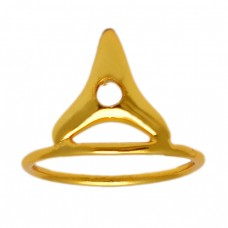 925 Sterling Silver Gold Plated Unique Handcrafted Ring Jewelry